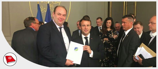 JF Rapin et Emmanuel Macron - Grand débat national - 29 mars 2019